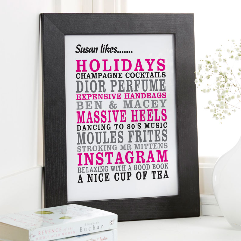f7fbede90309e Personalized Likes & Loves Print