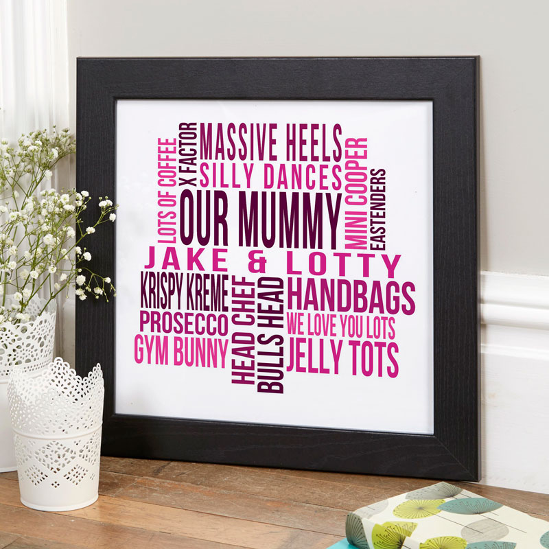 personalized wall art framed word print