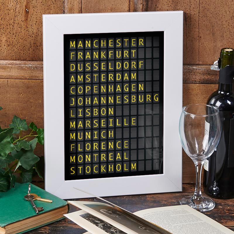 personalized departure board print