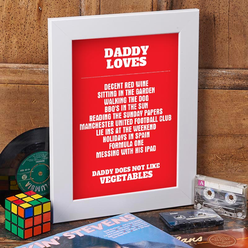 personalized daddy loves print