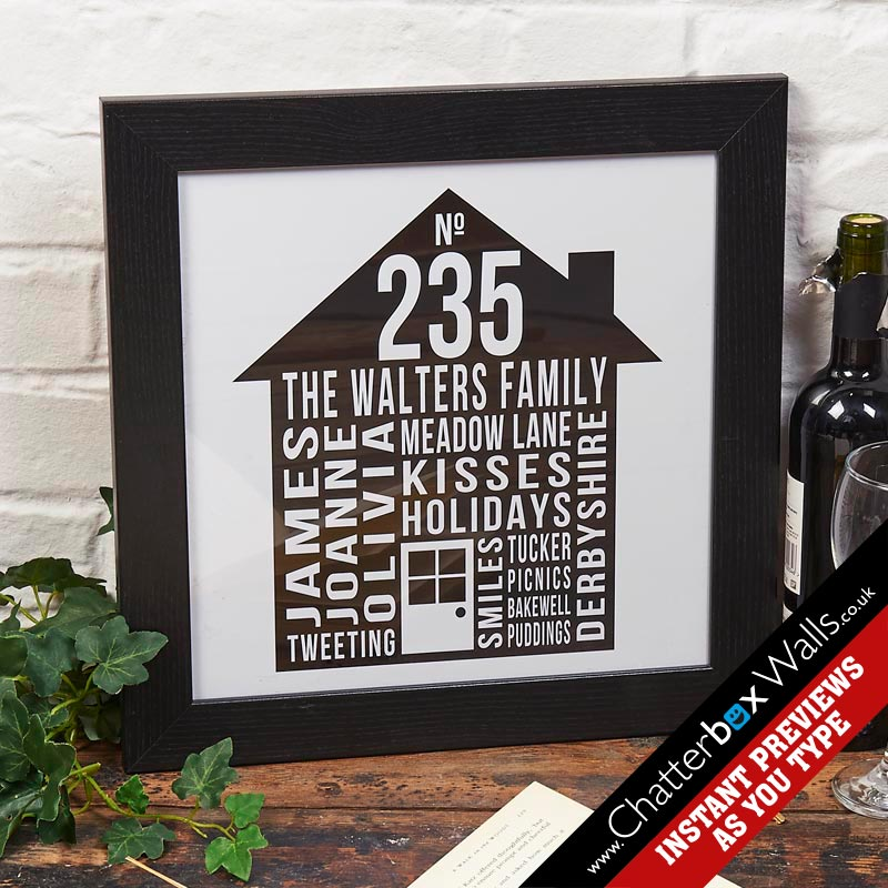 Personalized gifts for Home Typographic Prints Posters Canvases