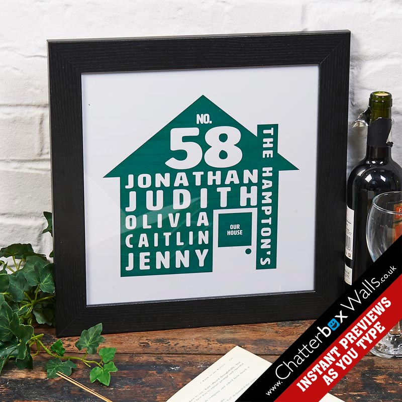 personalized family word art notonthehighstreet print
