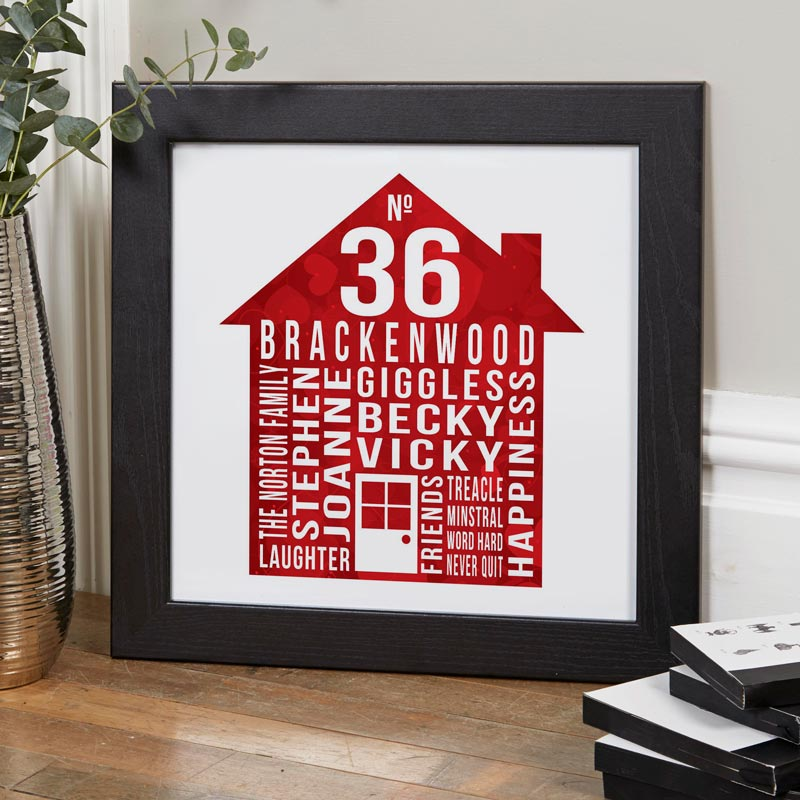 our house personalized family word art print house warming