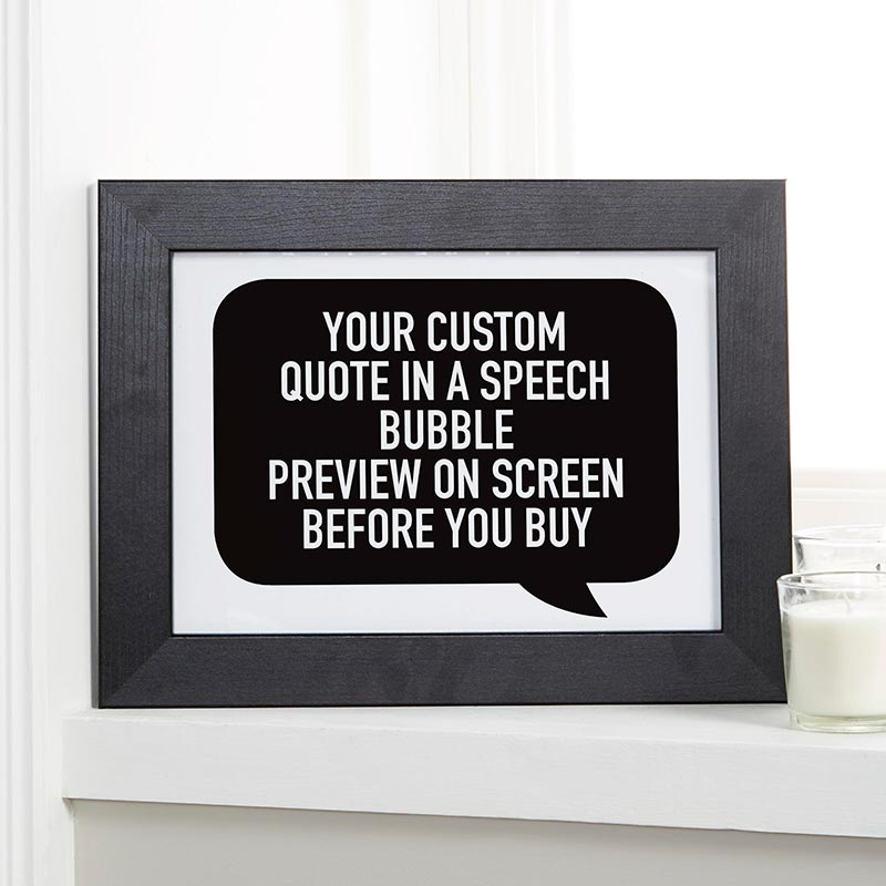 Custom Speech Bubble Quote Print