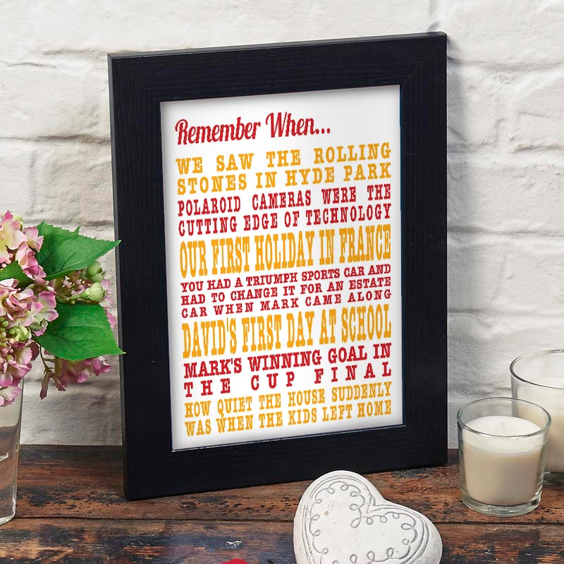 personalized remember when print