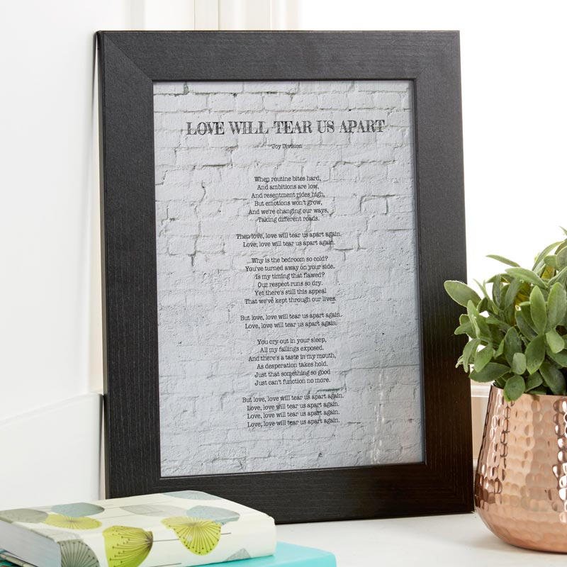Personalized Song Lyrics Print or Canvas | Chatterbox Walls