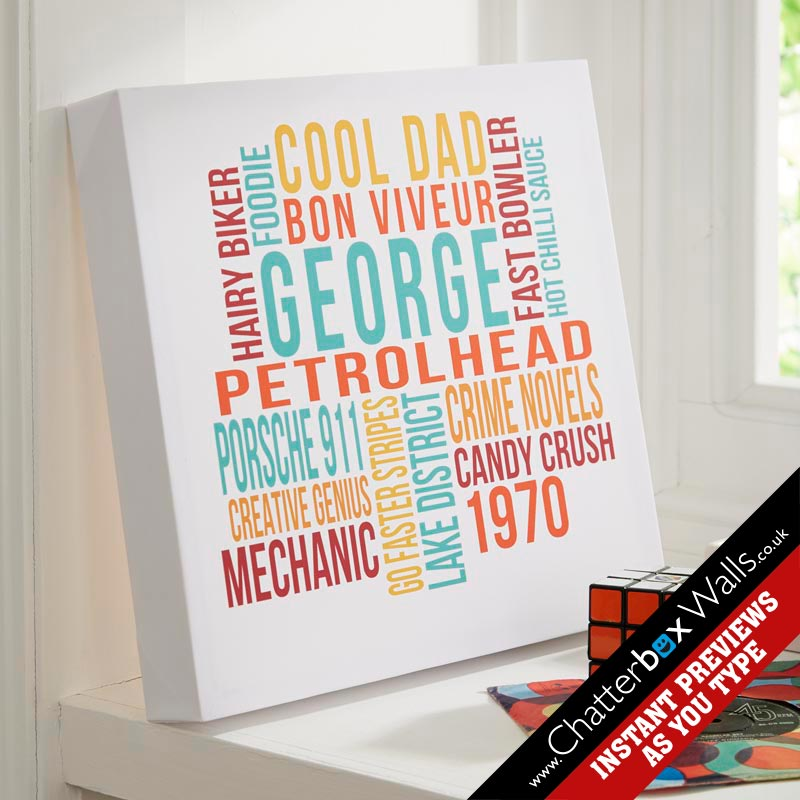 personalized typographic art prints canvases chatterbox walls