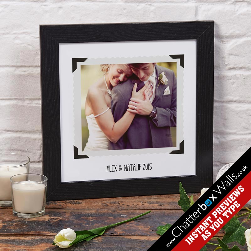 bespoke photo upload print with text