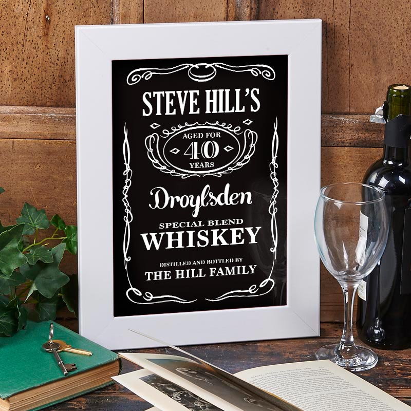 personalized whiskey print