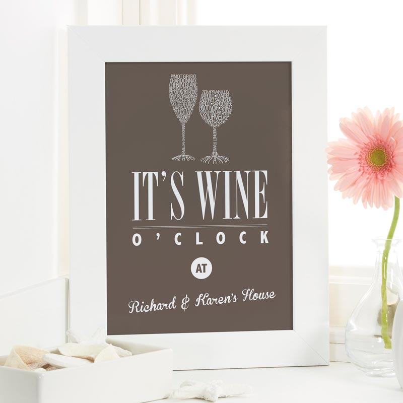 wine print gift with personalized name