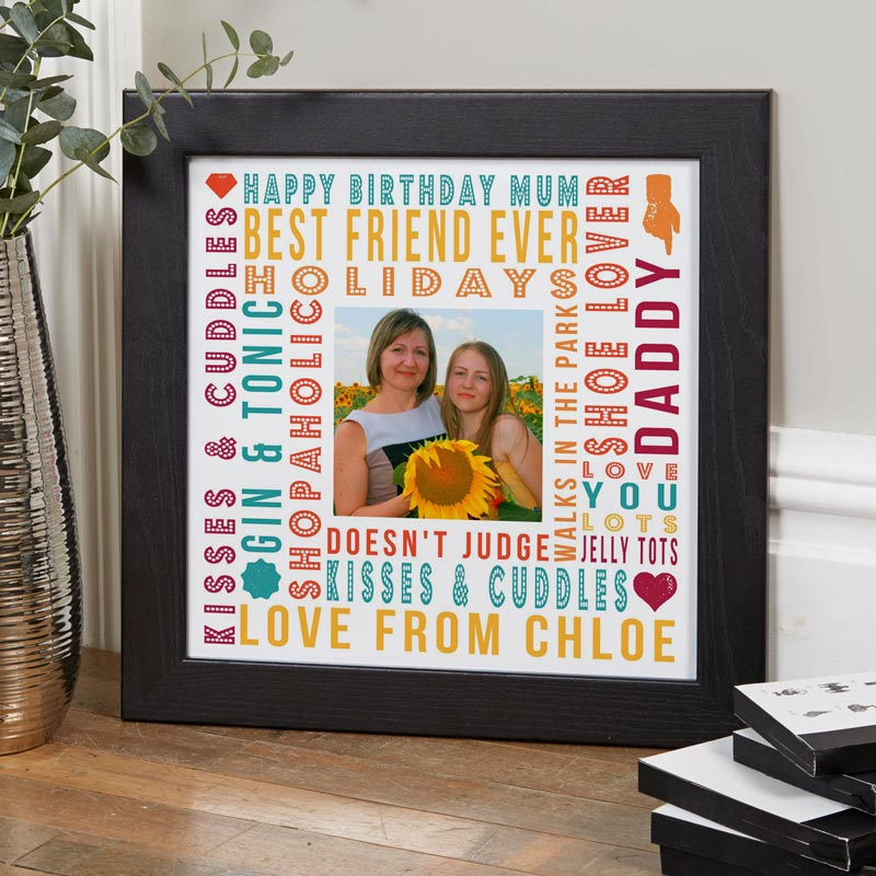 personalized gift for mum photo print with words