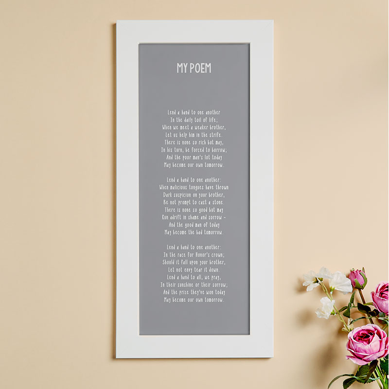 Personalized Poem Framed Wall Art