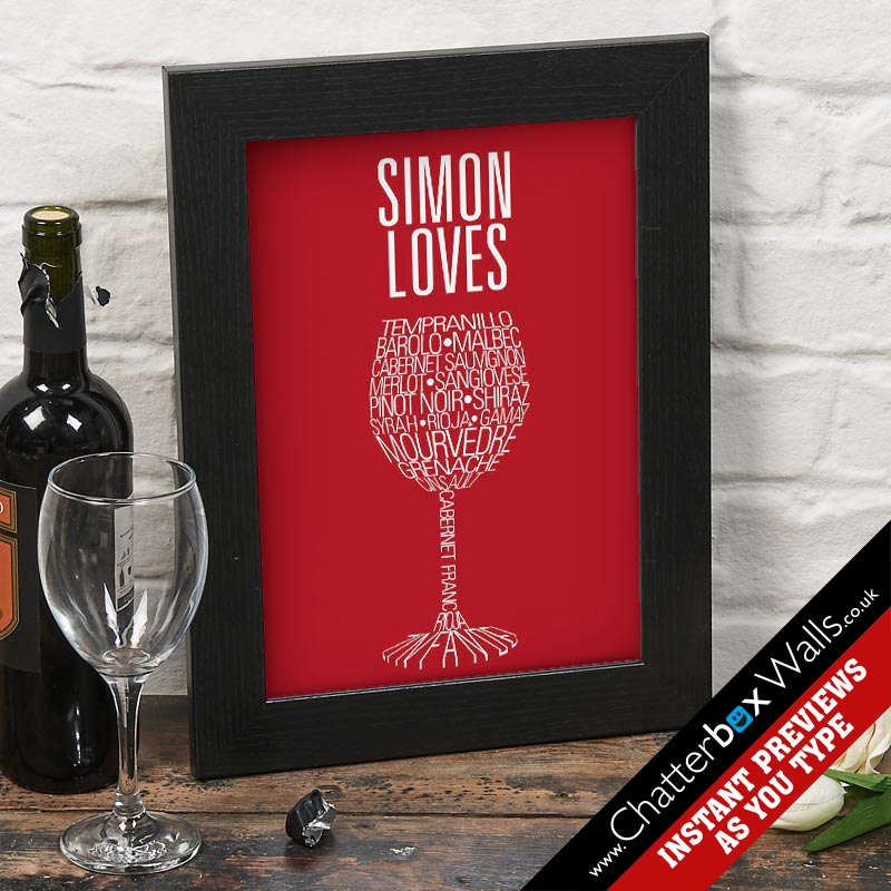 red wine print bespoke
