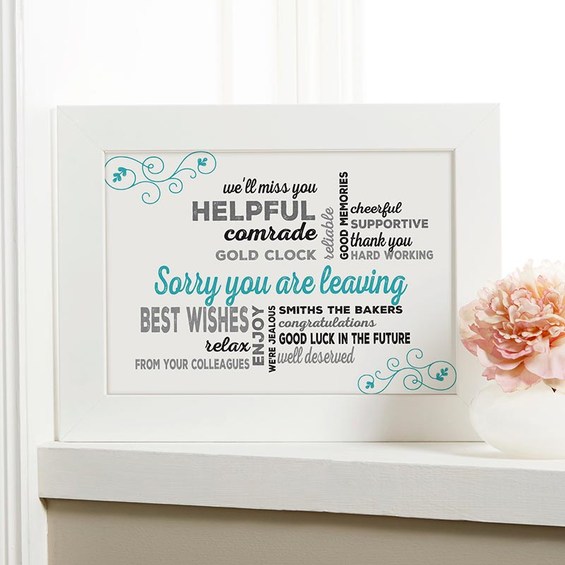 leaving gift personalized