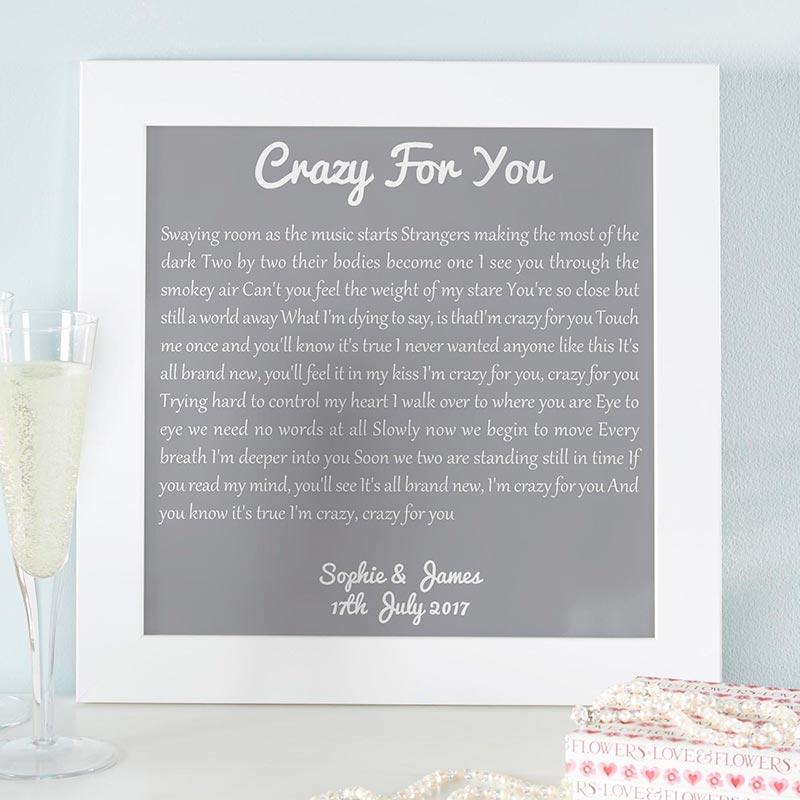 Attractive Song Lyrics Personalized Wall Art Print