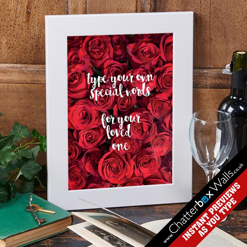 personalized type a quote valentines gift