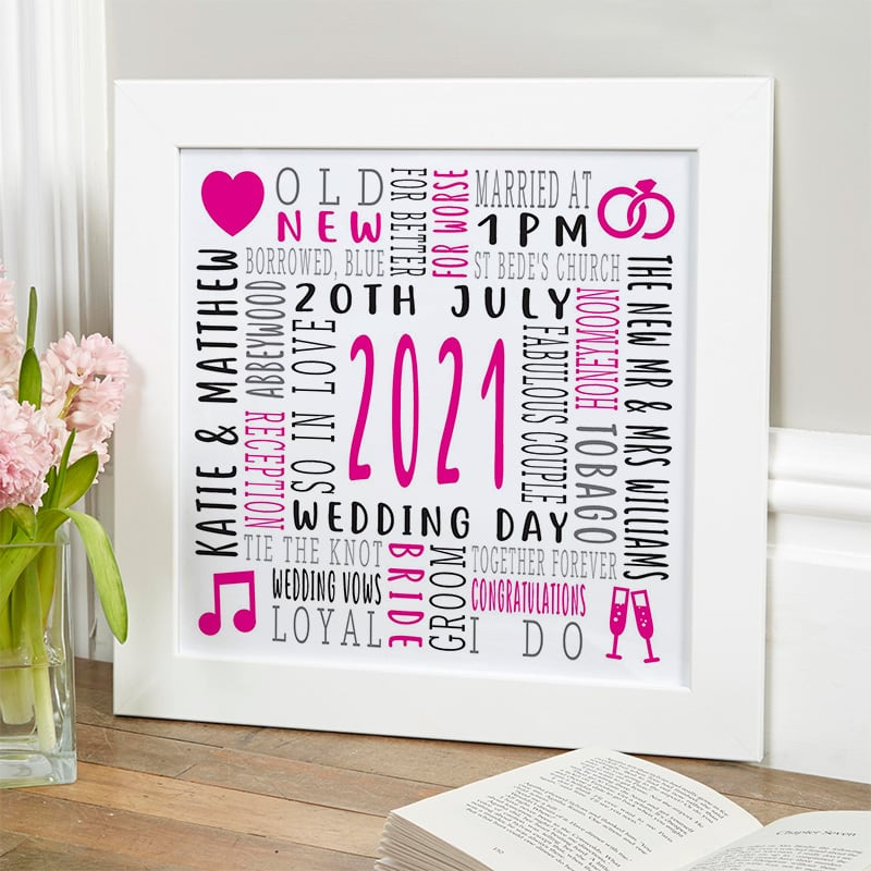 wedding gift ideas bespoke word picture print
